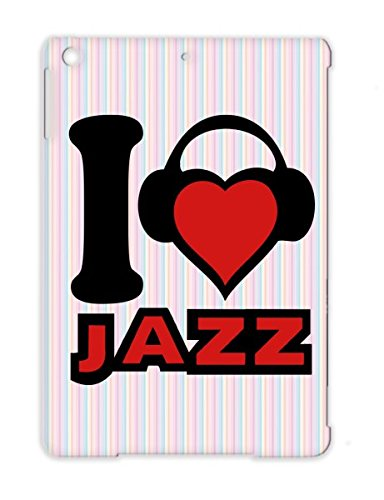 Rocknroll Music Disco Jazz Musik Micro Rampampb Hiphop Rock Dancer Music Karaoke House Headphone Metal Pop Microphone Dance Fun Mikrophone Records Dj Sound Classic Party Country Red Cover Case For Ipad Air I Love Jazz