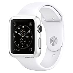 Spigen Apple Watch (SERIES 1) Case/cover   (APPLE WATCH NOT INCLUDED) (38mm) (SMALLER VERSION) Thin Fit (Smooth White) SGP11488