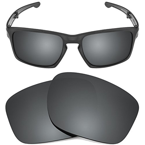 New SEEK OPTICS Replacement Lenses for Oakley SLIVER - Polarized Black Iridium
