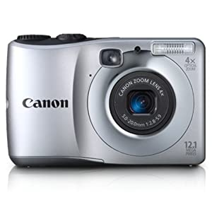 Canon Powershot A1200 12.1MP Point and Shoot Digital Camera with 4x Optical Zoom (Silver)
