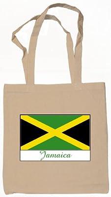Souvenir Jamaica Jamaican Tote Bag Natural 100% Cotton