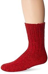 Wigwam Men's EL Pine Ragg Wool Socks, Red Heather, Large