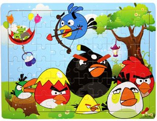 Thinkmax Angry Birds Wooden Puzzle Deluxe 60-Pieces Jigsaw Puzzle Kids Educational Wooden Toys front-503340