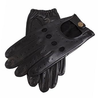Dents Men's Leather Driving Glove Black Medium