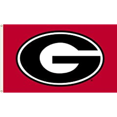 Buy NCAA Georgia Bulldogs 3-by-5 Foot Flag G Logo with Red Background with Grommets by BSI