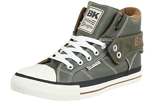 British Knights ROCO BK Herren Sneaker B34-3736-04 grün olive, Schuhgröße:EUR 42