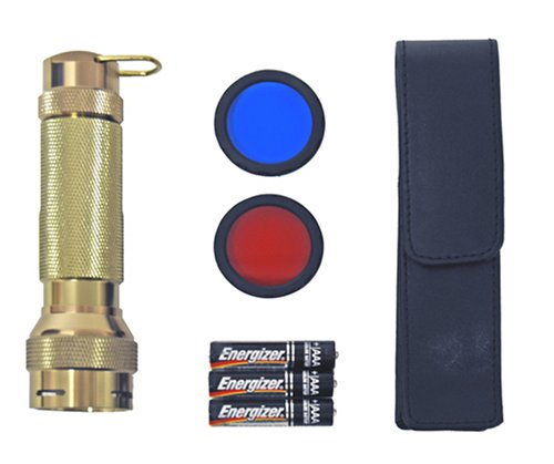 9 L.E.D./3Aaa Aluminum Flashlight With Holster