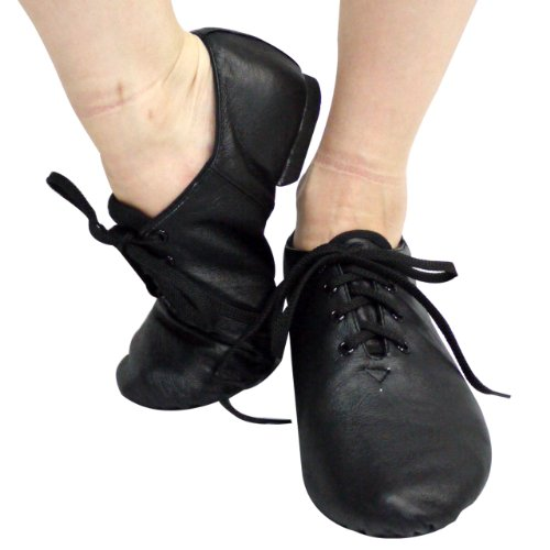 Pig leather * jazz dance shoes low cut type 20.0~25.5cm [Black] js017 (27.5 cm)