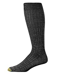 Gold Toe Wool Over The Calf Socks 3-Pack Extended Sizes, One Size, Black