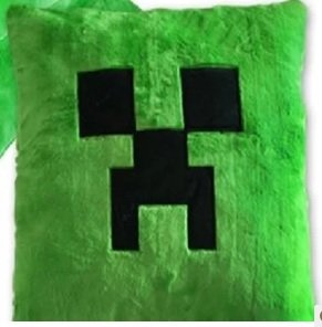 Minecraft Creeper Green Pillow Cushion 15 X 15 Inchs by A-factory