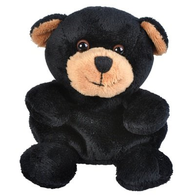 One Beanie Bean Filled Plush Stuffed Black Bear Animal