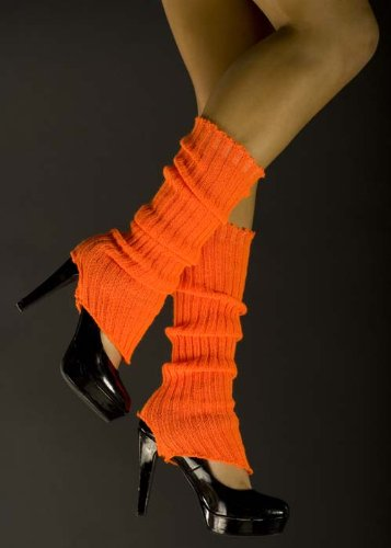 Womens Flourescent Neon Orange Legwarmers