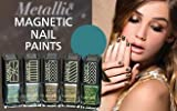Barry M Set of 5 Metallic Magnetic Nail Paints with a Calvin Klein Lipstick