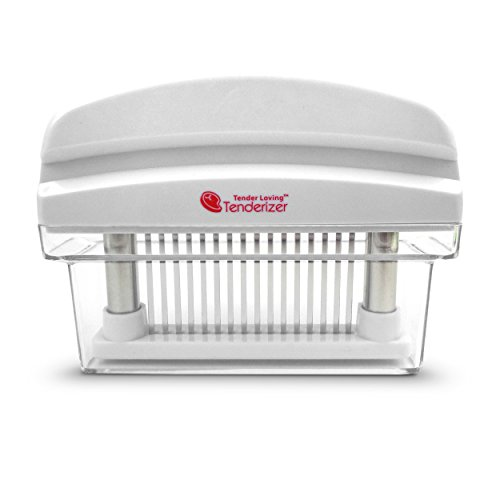 Tender Loving Meat Tenderizer 16 Blade, White with Stainless Steel Blades (Meat Tenderizer All Metal compare prices)
