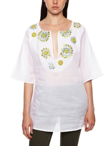 Aguaclara Brillo Amazonico White 100% Cotton Cover Up Womens Coverups and Sarongs White 8