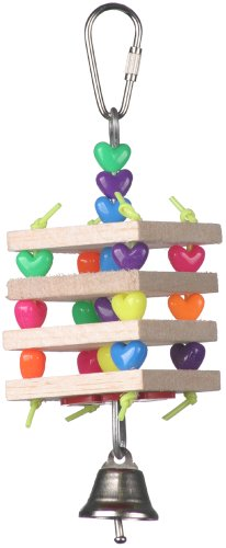 Cheap Super Bird Creations 6-1/2 by 2-Inch Balsa Stack Bird Toy, Small (SB680)