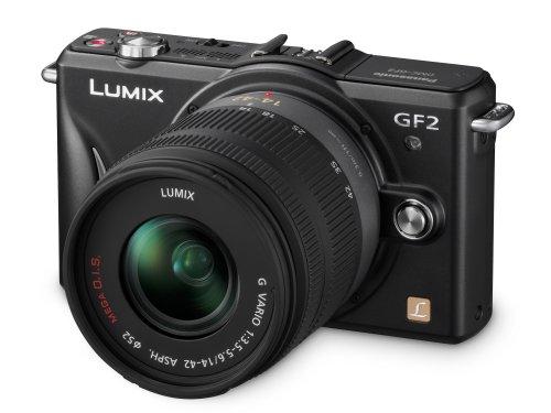 Panasonic Lumix GF2 Digital Camera with 14-42mm Lens - Black