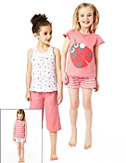 3 Pack Pure Cotton Assorted Ladybird Pyjamas