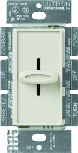 Lutron SFSQ-F-LA Skylark 1.5-Amp Single Pole Slide-To-Off 3-Speed Fan Control, Light Almond