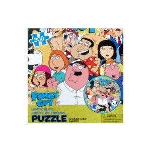 Family Guy Lenticular Circle of Friends 300pc. Puzzle - 1