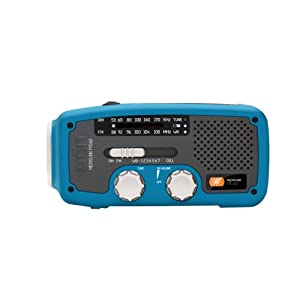 Etón FR160BL Microlink Self-Powered AM/FM/NOAA Weather Radio with Flashlight, <a href=