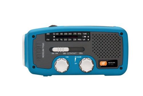 Eton FR160BL Microlink Self-Powered AM/FM/NOAA Weather Radio (Blue)
