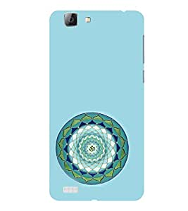 ifasho Modern Art Om design pattern in kundli Back Case Cover for VIVO V1