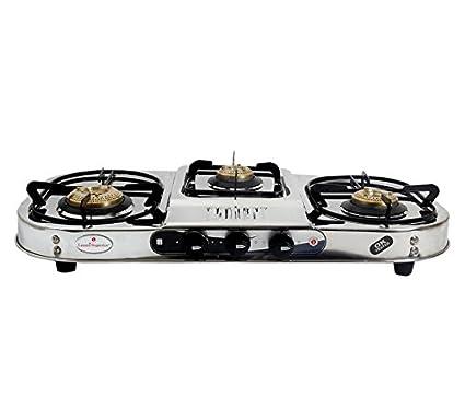 Laxmi Superior kia Model Steel Gas Cooktop (3 Burners)