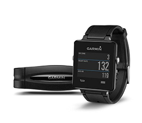 Garmin vívoactive Black bundle (Includes Heart Rate Monitor)
