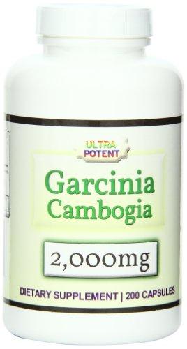 Eden Pond Garcinia Cambogia Capsules 50% HCA 2000mg, 200 Count