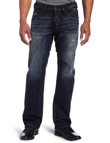 Diesel Men's Viker Regular/Slim Straight Leg Washed Jean