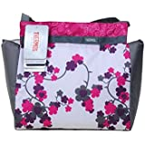 Thermos Raya Insulated 9 Can Duffle Bag, Pink & Grey Floral Design