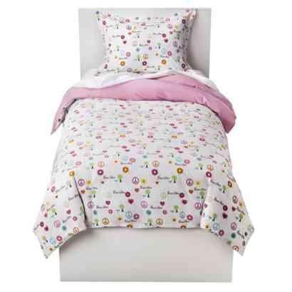 Full/Queen Peace Flannel Duvet Set front-942402