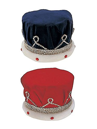 Royal Kings Crown Adult Blue Costume Accessory