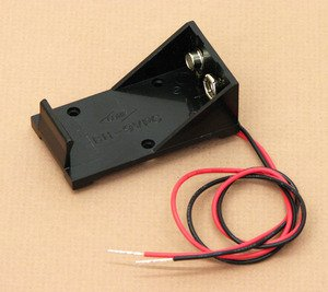 9V Battery Cell Holder With Electrical Wire 12In For Physics