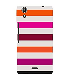 Girly Lovely Lines 3D Hard Polycarbonate Designer Back Case Cover for Micromax CanvasSelfie2Q340