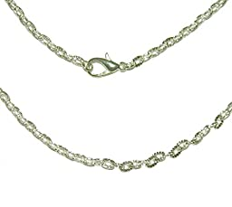 Rockin Beads 12 Pack Silver Plated Lobster Clasp Link Chain Necklaces 20 Inch