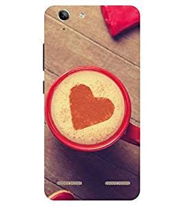 Chiraiyaa Designer Printed Premium Back Cover Case for Lenovo Vibe K5 Plus (coffee heart boy girl friend valentine miss kiss cup) (Multicolor)