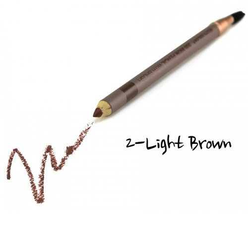 (3 Pack) CITY COLOR Duo Brow Pencil With Brush - Light Brown