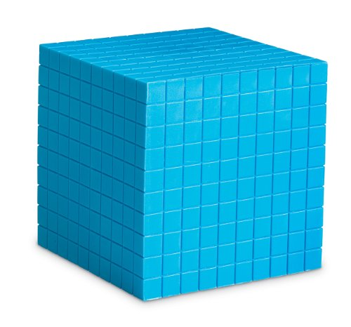 Learning Resources Blue Plastic Base Ten Cube - 1