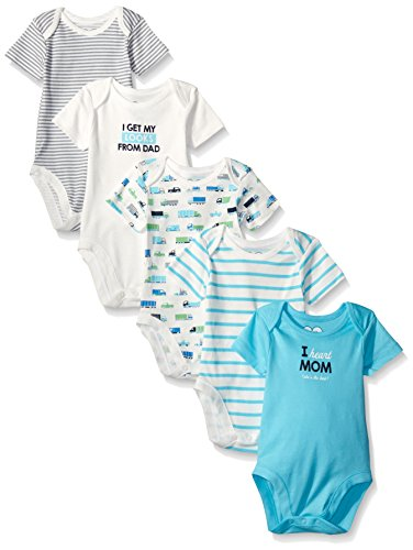 The Children's Place Baby Truck Theme Bodysuits (Pack of 5), Gulfstream, 18-24 Months