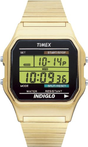 Timex Men's T78677 Classic Digital Gold-Tone Expansion Band Stainless Steel Bracelet Watch