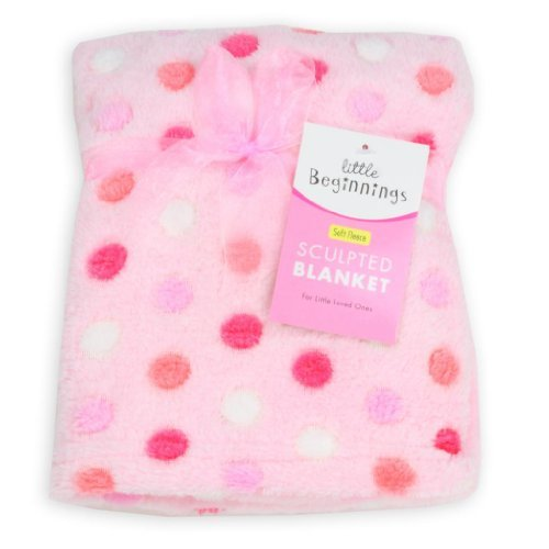 Baby Girl Pink Sculpted Blanket