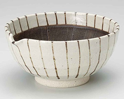 Sabi Tokusa 19cm Mortar Beige Ceramic Made in Japan