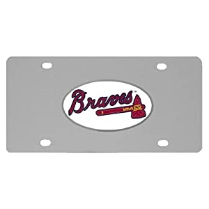 Amazon.com : MLB Atlanta Braves Team Logo License Plate