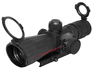 NcSTAR 3 - 9x42 mm Mark III Rubber Tactical Scope with Integrated Laser