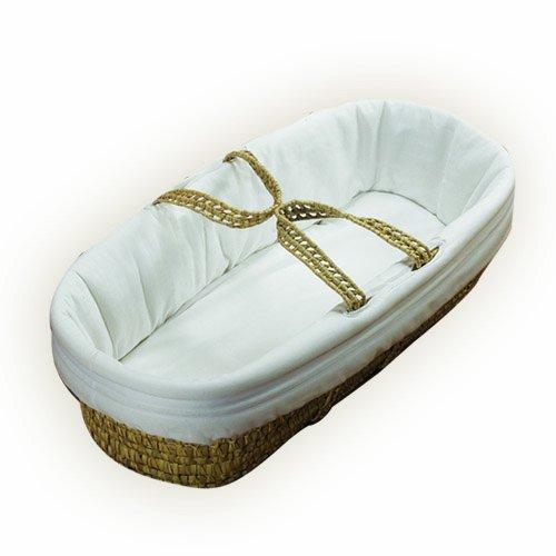 Imagen de Baby Doll Bedding Hotel Style II Moisés Basket, White