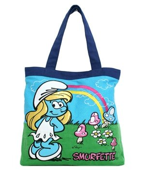 The Smurfs Smurfette w. Rainbow Tote