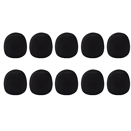 Bluecell Black Color 10 Pack Of Microphone Windscreen Foam Cover