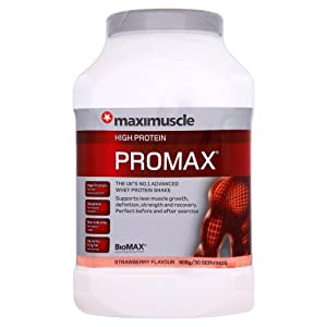 Maximuscle Promax 908 g Strawberry Whey Protein Shake Powder